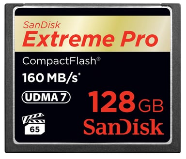 SanDisk Extreme Pro 128GB CompactFlash-kortti