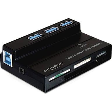 Delock USB 3.0 Card Reader All In 1 + 3 Port USB 3.0 Hub
