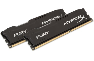 Kingston Hyperx Fury Black Series 16GB 16GB 1,600MHz DDR3 SDRAM DIMM 240-pin