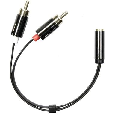 Deltaco Adapter Mini-phone stereo 3.5 mm Hona RCA x 2 Hane