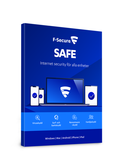 F-Secure SAFE 1 år 5-enheter Box