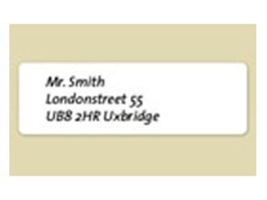Dymo Etiketter Adresse 89 x 28mm - LW 2-Pak