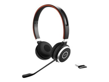 Jabra Evolve 65 MS Stereo Headset Zwart