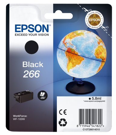 Epson Blekk Svart 266 - WF-100W