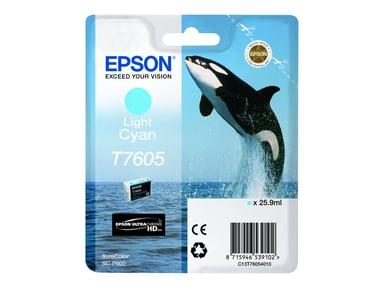 Epson Inkt Ljus Cyaan T7605