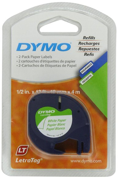 Dymo Tape LetraTAG 12mm Paper White