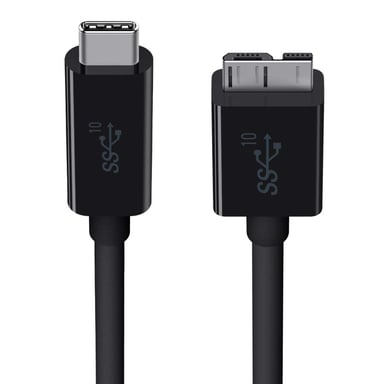 Belkin kabel 0.914m 24-stifts USB-C Hane 10 pin Micro-USB Type B Hane