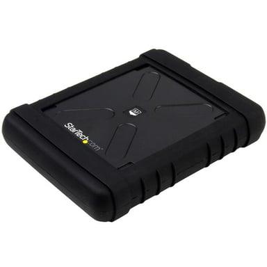 """Startech Rugged Hard Drive Enclosure 2.5"""" SATA 6Gb/s USB 3.0 Zwart"""