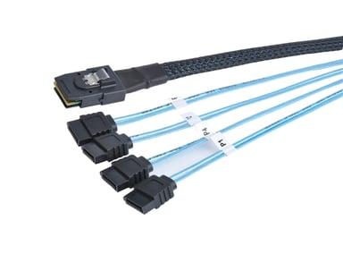 Prokord SATA/SAS-kabel 0.5m 36-pins 4i Mini MultiLane SAS (SFF-8087) Hann 7-pins seriell ATA Hunn