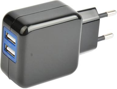 Cirafon Strømadapter 2xUSB 230V 5V 2.4A - Sort