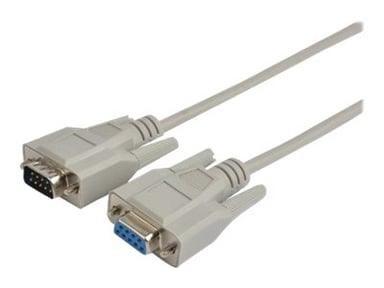 Prokord Seriell förlängningskabel 1m 9 pin D-Sub (DB-9) Hane 9 pin D-Sub (DB-9) Hona
