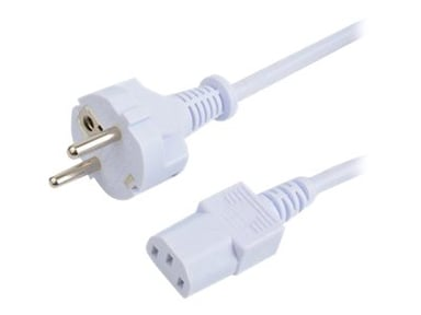 Prokord Strømkabel 2m CEE 7/7 strøm Hann Strøm IEC 60320 C13