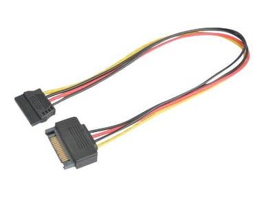 Prokord SATA-forlængerkabel 0.3m 15 pin Serial ATA strøm Han 15 pin Serial ATA strøm Hun