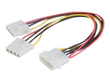 Prokord Strømkabel 0.2m 4-pin intern strøm Hunn 3 pin internstr Hann