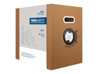 Ubiquiti TOUGHCable Pro 305 m CAT 5e Kabel med afskærmning med folie og kobberfletning (SFTP Sort 305m