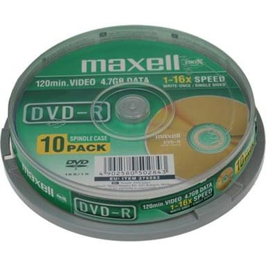 Maxell DVD-R  x 10 null