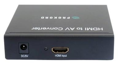 Prokord HDMI To Av Converter HDMI Hona RCA Hona Svart