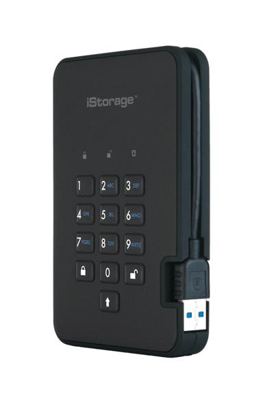 Istorage Diskashur2 SSD 256-bit 1TB 1TB Svart