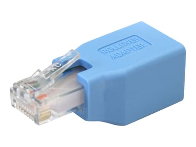 Startech Cisco Console Rollover Adapter for RJ45 Ethernet Cable RJ-45 Male RJ-45 Female Blauw