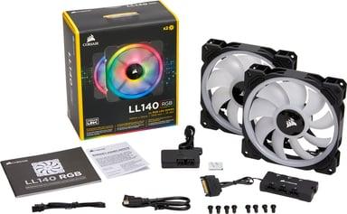 Corsair LL140 RGB Double Pack + Lighting Node PRO 140 mm