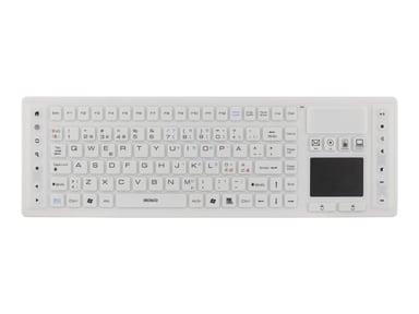 Deltaco TB-507 silikon IP65 touchpad Trådlös Vit