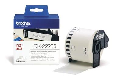 Brother Tape Papper 62mm X 30.5M Vit