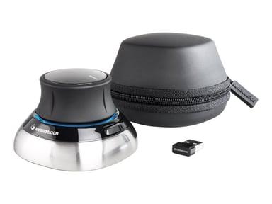 3DConnexion SpaceMouse Wireless 3D-muis Draadloos Met bekabeling Zilver Zwart