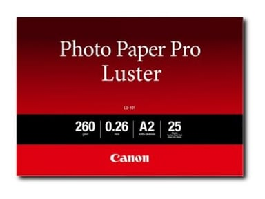 Canon Papper Photo Luster A2 LU-101 25 Ark 260g