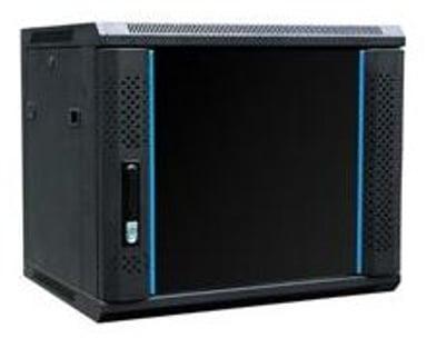 """Toten 19"""" Wall Cabinet 6U 600X450 Glassdoor Black"""