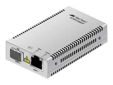 Allied Telesis AT MMC2000/SP Glasvezel mediaconverter RJ-45 SFP (mini-GBIC)