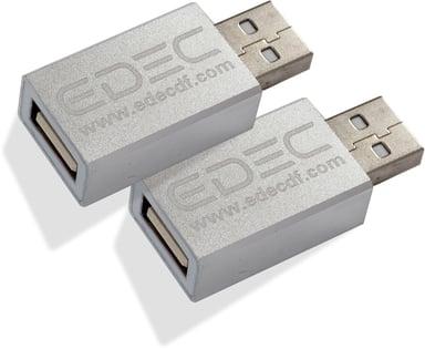 Edec USB Data Blocker 2-Pcs 4-stifts USB typ A (endast ström) Hane 4-stifts USB typ A (endast ström) Hona