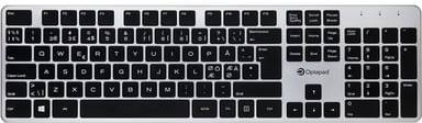 Optapad Wireless Keyboard Trådlös Nordiska länderna Silver