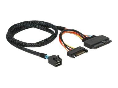 Delock Intern SAS-kabel 0.75m 36-stifts 4x mini-SAS HD (SFF-8643) Hane 15-stifts seriell ATA-ström U.2 (SFF-8639)