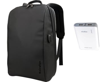 Cirafon NOTEBOOK BACKPACK CITY SLIM + Powerbank 8,000mAh 156""