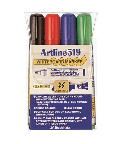 Artline Whiteboard Pen 519 4-Set null
