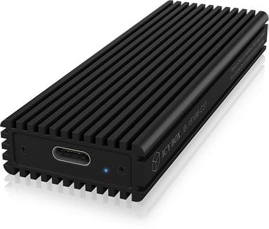Raidsonic Icybox External Enclosure m.2 Nvme SSD USB-C Black USB 3.1 (Gen 2) Musta