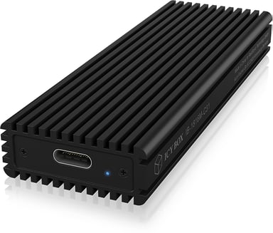 Raidsonic Icybox External Enclosure m.2 Nvme SSD USB-C Black USB 3.1 (Gen 2) Svart