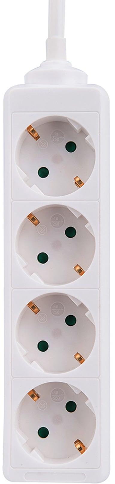 Prokord Prokord Power Socket 4Xsocket 1.5m White 4stuks Voeding CEE 7/4