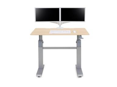 Ergotron Workfit-DL 48 Sit-Stand Desk Maple