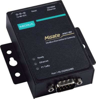 Moxa Mgate MB3180 1-Port Serial To Ethernet Modbus Gateway