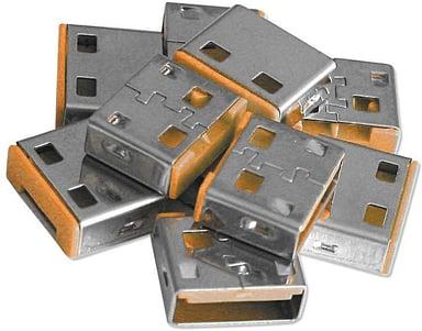 Lindy USB Port Blocker Orange 10-pack utan nyckel