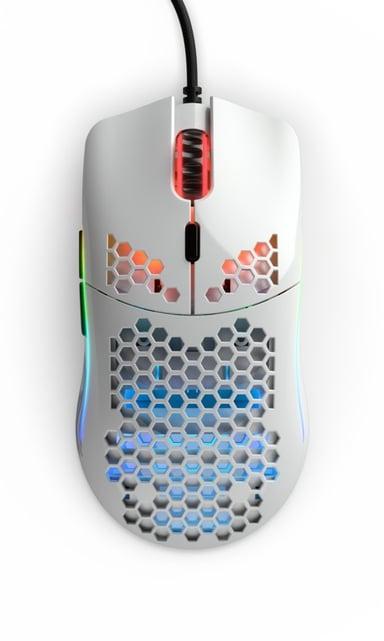 Glorious PC Gaming Race Model O Glossy 12,000dpi Mus Kabelansluten Vit