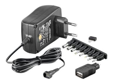 Microconnect 3-12V Universal Strømforsyningsadapter