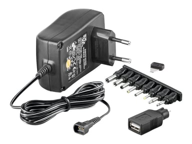 Microconnect 3-12V Universal Verkkosovitin