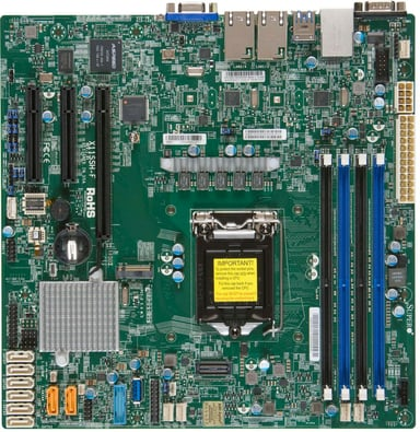 Supermicro X11SSH-F Micro ATX Moderkort