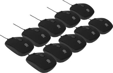 Voxicon Travel Mini M32W 10-Pack 1,600dpi Mus Kabling Sort