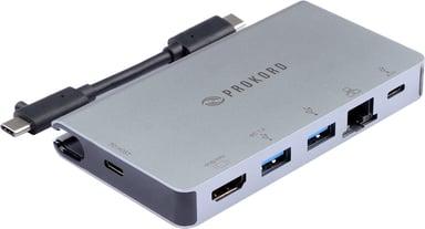 Prokord Travel Port USB-C Total USB-C Minitelakointiasema