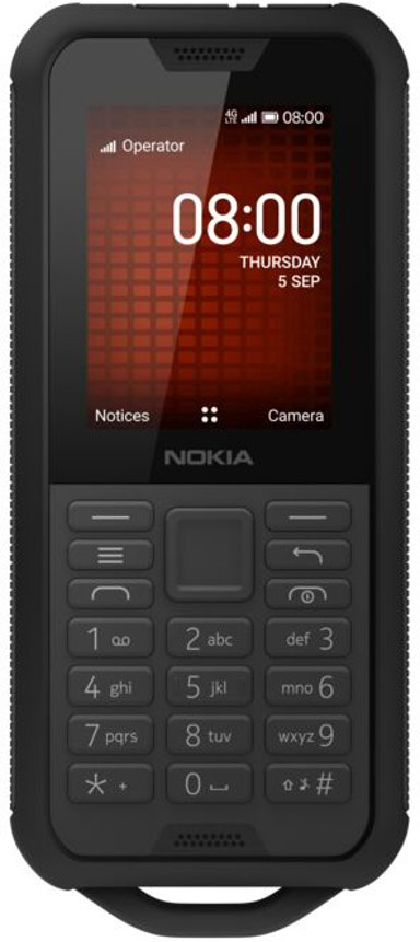 Nokia 800 Tough Dual-SIM (SIM1 og SIM2/MicroSD åbninger) Sort