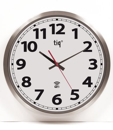 Ketonic Tiq Veggklokke WiFi Aluminium 300mm