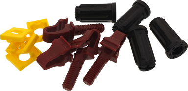 Direktronik Rackstuds V2 Röd/Brun 100-Pack